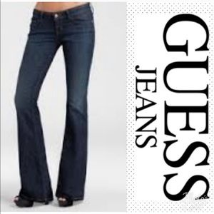 Guess Daredevil Flare Jeans Sz 29 Regular Stretch